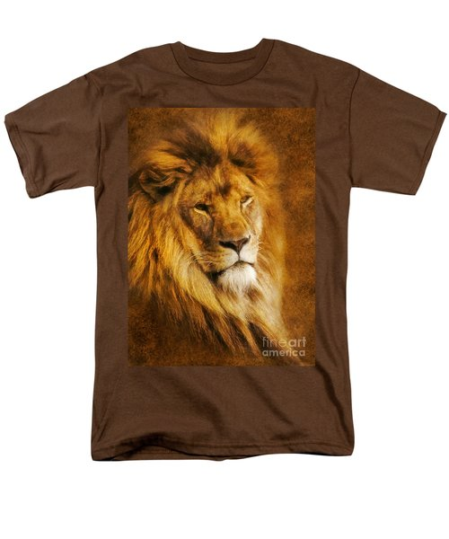Men's T-Shirt  (Regular Fit) featuring the digital art King Of The Beasts by Ian Mitchell