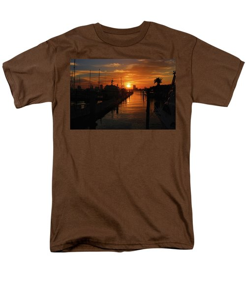 Men's T-Shirt  (Regular Fit) featuring the photograph 1- Lake Park Marina by Joseph Keane