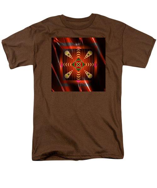 Men's T-Shirt  (Regular Fit) featuring the digital art Mandala Burning by Mario Carini