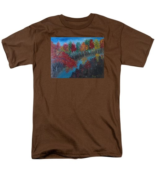 New Hampshire In Autumn Men's T-Shirt  (Regular Fit) by Roxy Rich