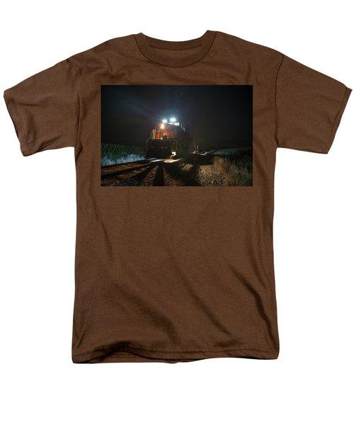 Men's T-Shirt  (Regular Fit) featuring the photograph Night Train by Aaron J Groen