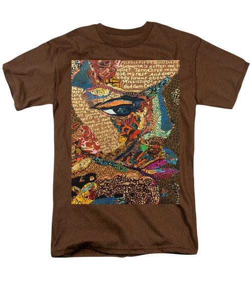 Nina Simone Fragmented- Mississippi Goddamn Men's T-Shirt  (Regular Fit) by Apanaki Temitayo M