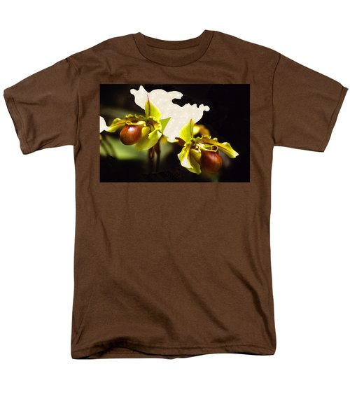 Paphiopedilum Orchid Men's T-Shirt  (Regular Fit) by Rosalie Scanlon