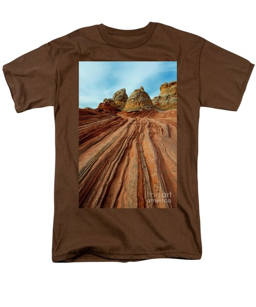 Men's T-Shirt  (Regular Fit) featuring the photograph Red Desert Lines by Mike Dawson
