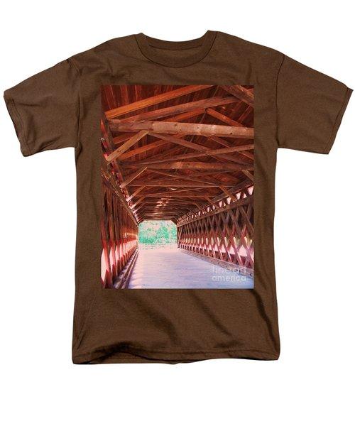 Sachs Bridge Men's T-Shirt  (Regular Fit) by Eric  Schiabor