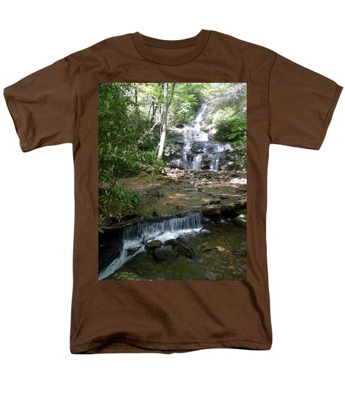 Set Rock Creek Falls Men's T-Shirt  (Regular Fit) by Joel Deutsch