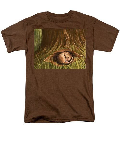 Men's T-Shirt  (Regular Fit) featuring the painting Sleeping  by Veronica Minozzi
