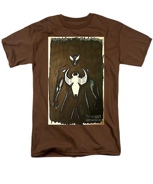 Spider-man Back In Black Men's T-Shirt  (Regular Fit) by Justin Moore