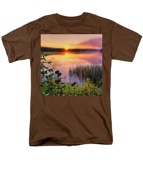 Men's T-Shirt  (Regular Fit) featuring the photograph Summer Sunrise Square by Bill Wakeley
