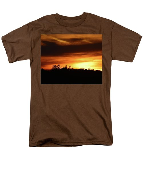 Sunset Behind The Clouds  Men's T-Shirt  (Regular Fit) by Lyle Crump