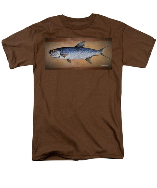 Men's T-Shirt  (Regular Fit) featuring the painting Tarpan by Andrew Drozdowicz