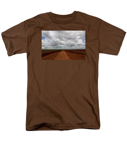 Texas Red Road Men's T-Shirt  (Regular Fit) by Suzanne Lorenz