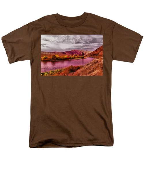 Men's T-Shirt  (Regular Fit) featuring the photograph The Yakima River by Jeff Swan