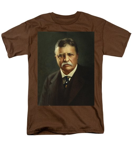 Theodore Roosevelt - President Of The United States Men's T-Shirt  (Regular Fit) by International  Images
