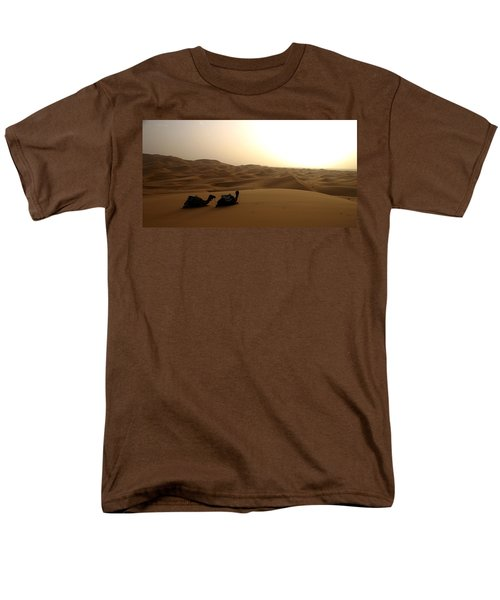 Two Camels At Sunset In The Desert Men's T-Shirt  (Regular Fit) by Ralph A  Ledergerber-Photography