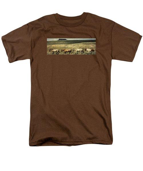 Walking The Line At Pilot Butte Men's T-Shirt  (Regular Fit)