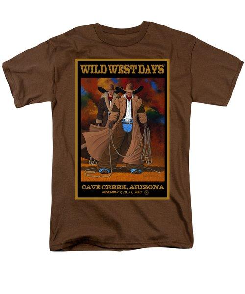 Wild West Days Poster/print  Men's T-Shirt  (Regular Fit) by Lance Headlee