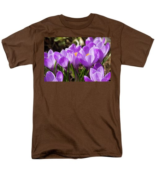 Purple Crocuses Men's T-Shirt  (Regular Fit) by Irina Afonskaya