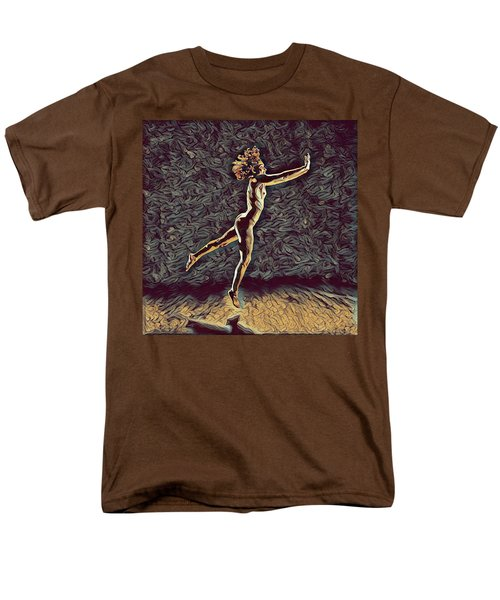 1302s-zak Naked Dancers Leap Nudes In The Style Of Antonio Bravo Men's T-Shirt  (Regular Fit)