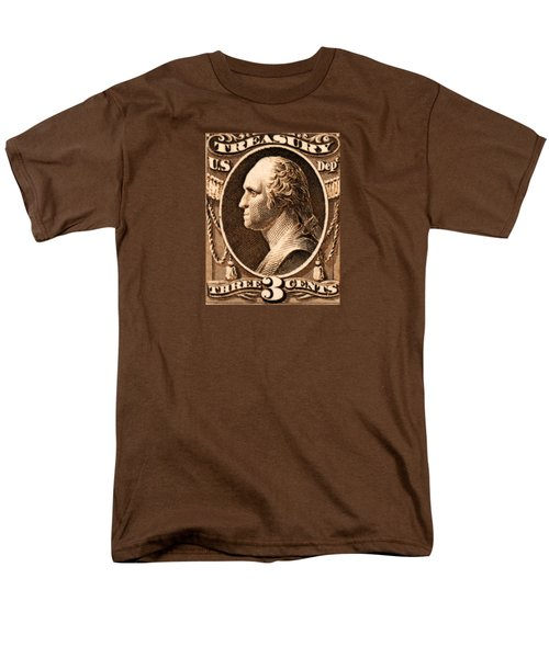 1875 George Washington Treasury Department Stamp Men's T-Shirt  (Regular Fit) by Historic Image