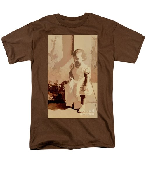 Men's T-Shirt  (Regular Fit) featuring the photograph 1940s Little Girl by Linda Phelps