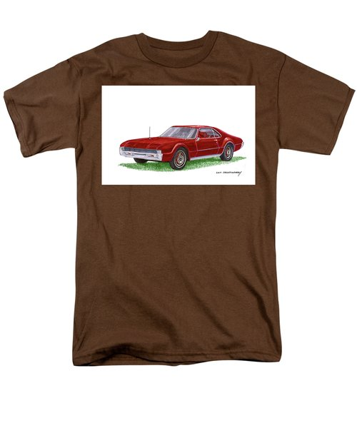 Men's T-Shirt  (Regular Fit) featuring the painting 1966 Oldsmobile Toronado by Jack Pumphrey