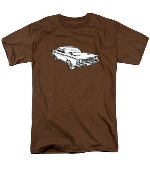 1968 Plymouth Roadrunner Muscle Car Illustration Men's T-Shirt  (Regular Fit) by Keith Webber Jr