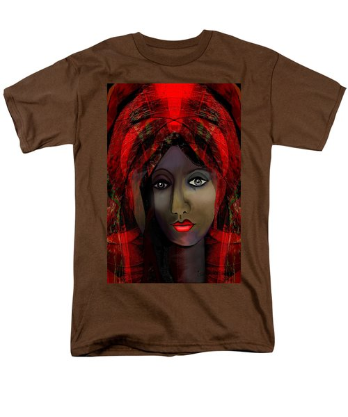 Men's T-Shirt  (Regular Fit) featuring the digital art 1980 -  Leading Into Temptation 2017 by Irmgard Schoendorf Welch