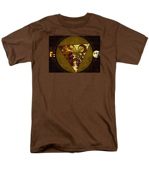 Abstract Painting - Golden Sand Men's T-Shirt  (Regular Fit) by Vitaliy Gladkiy