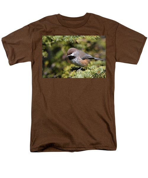 Boreal Chickadee Men's T-Shirt  (Regular Fit) by Doug Lloyd