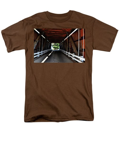 Gallon House Covered Bridge Men's T-Shirt  (Regular Fit) by Ansel Price