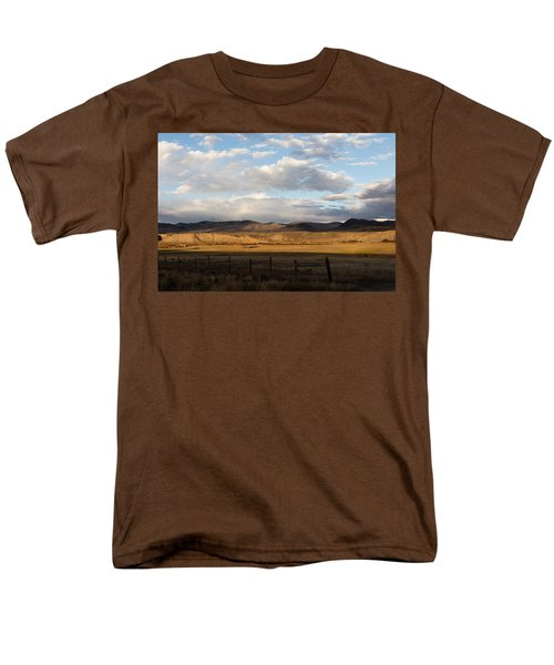 Mountain Meadow And Hay Bales In Grand County Men's T-Shirt  (Regular Fit) by Carol M Highsmith