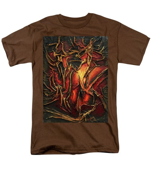 Men's T-Shirt  (Regular Fit) featuring the mixed media Passion by Angela Stout