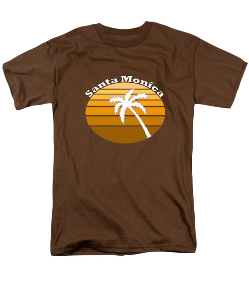 Santa Monica Men's T-Shirt  (Regular Fit) by Brian's T-shirts