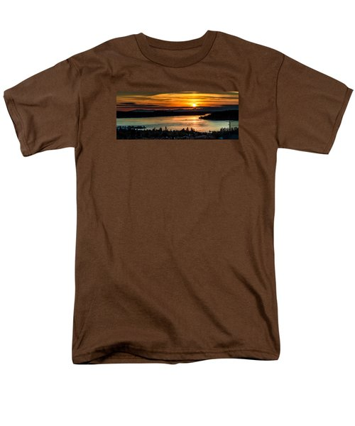 Men's T-Shirt  (Regular Fit) featuring the photograph Sunset Over Hail Passage On The Puget Sound by Rob Green