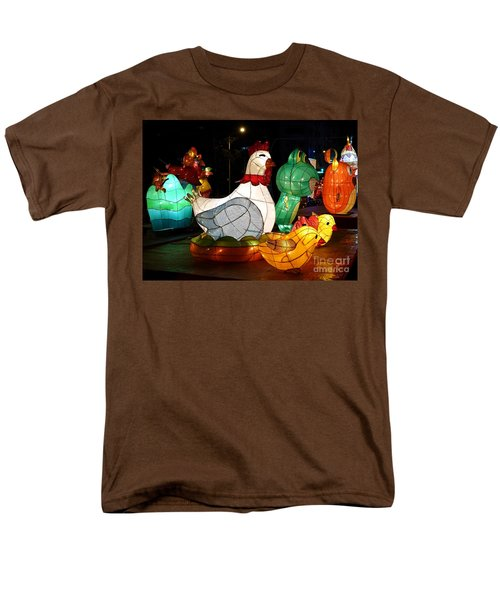 Men's T-Shirt  (Regular Fit) featuring the photograph The 2017 Lantern Festival In Taiwan by Yali Shi