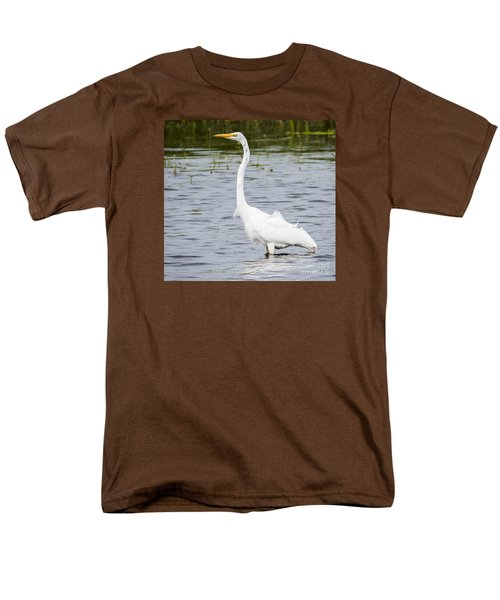 Men's T-Shirt  (Regular Fit) featuring the photograph The Great White Egret by Ricky L Jones