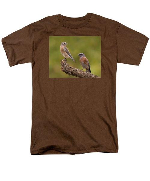 Western Bluebird Men's T-Shirt  (Regular Fit) by Doug Herr