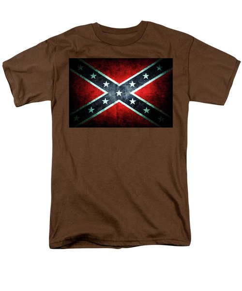 Men's T-Shirt  (Regular Fit) featuring the photograph Confederate Flag by Les Cunliffe