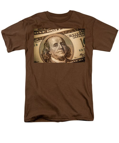 Men's T-Shirt  (Regular Fit) featuring the photograph Benjamin Franklin by Les Cunliffe
