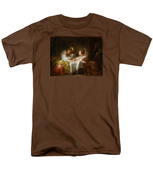 Men's T-Shirt  (Regular Fit) featuring the painting The Stolen Kiss by Jean-Honore Fragonard