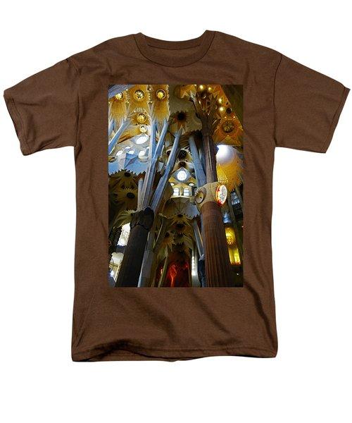 Artistic Achitecture Within The Sagrada Familia In Barcelona Men's T-Shirt  (Regular Fit) by Richard Rosenshein
