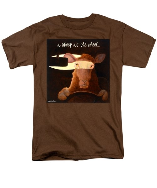 A Sheep At The Wheel... Men's T-Shirt  (Regular Fit) by Will Bullas