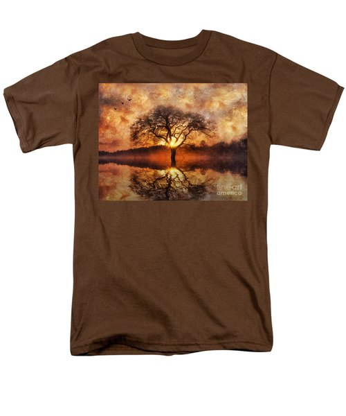 Men's T-Shirt  (Regular Fit) featuring the digital art Lone Tree by Ian Mitchell