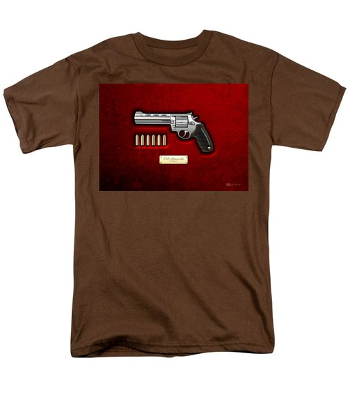.44 Magnum Colt Anaconda On Red Velvet  Men's T-Shirt  (Regular Fit) by Serge Averbukh