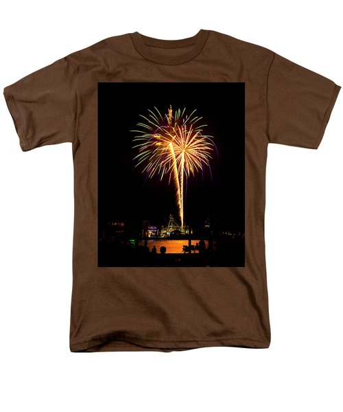 Men's T-Shirt  (Regular Fit) featuring the photograph 4th Of July Fireworks by Bill Barber