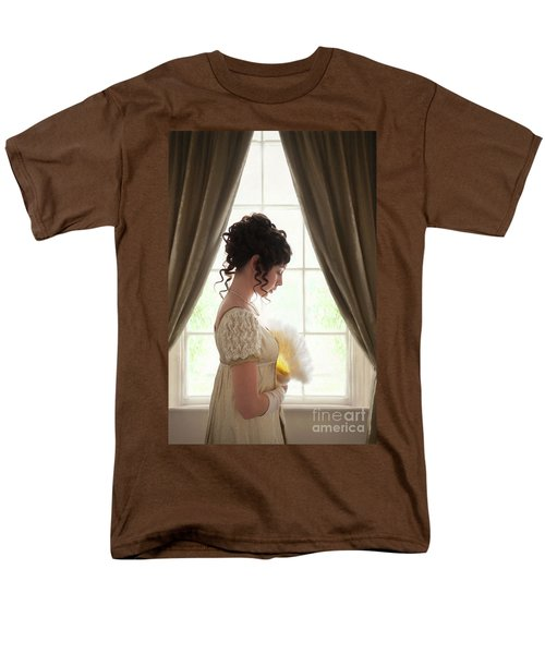 Regency Woman At The Window Men's T-Shirt  (Regular Fit) by Lee Avison