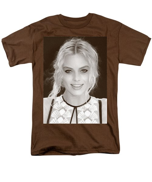 Actress Margot Robbie Men's T-Shirt  (Regular Fit) by Best Actors