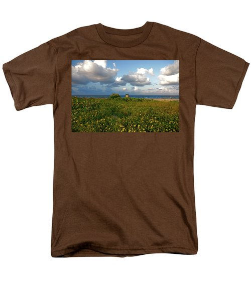 Men's T-Shirt  (Regular Fit) featuring the photograph 8- Sunflowers In Paradise by Joseph Keane