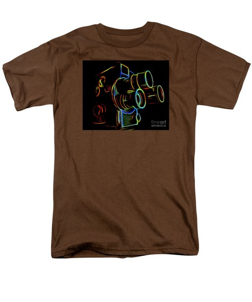 Men's T-Shirt  (Regular Fit) featuring the photograph 8mm In Neon by Mark Miller